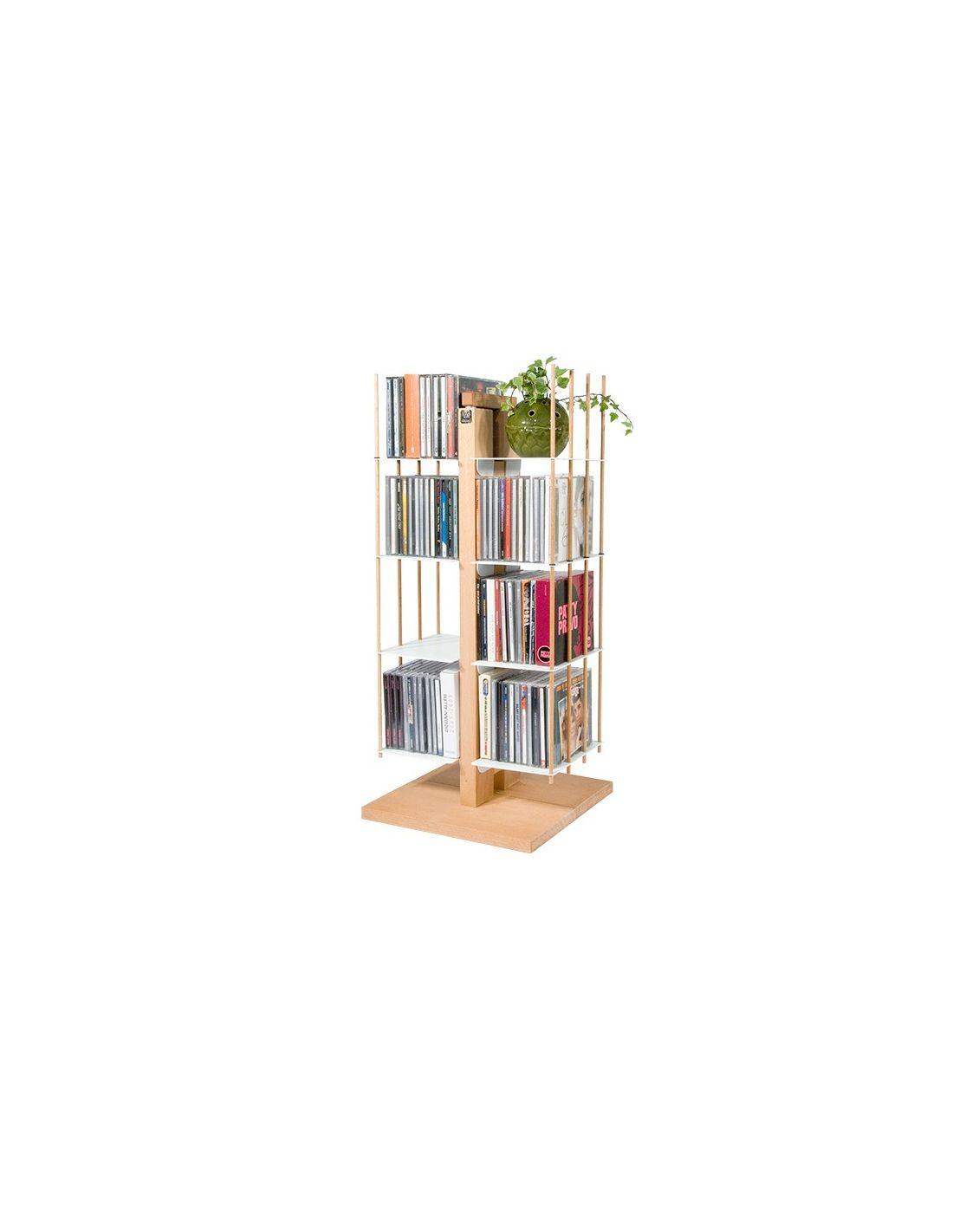 Zia carmen porta cd a colonna da terra in legno massello - Porta dvd in legno ...