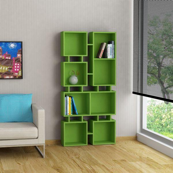 johnny 2 libreria design moderno scaffale a muro in legno 160 x 80 ... - Design Soggiorno Moderno 2