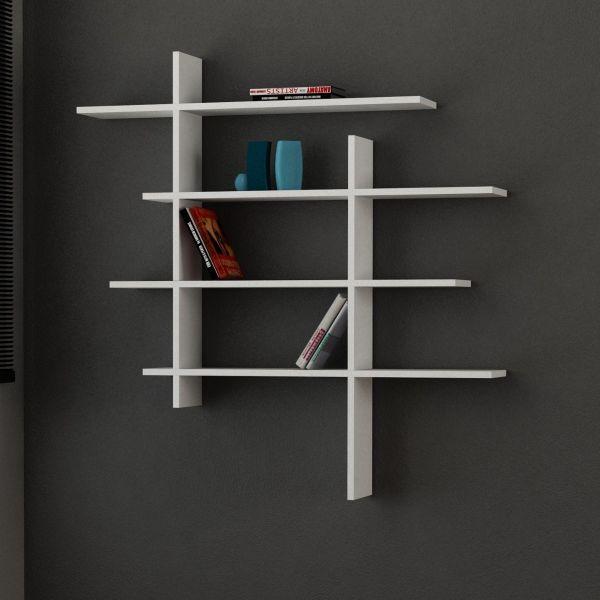 Standup libreria mensola design da parete in legno 115 x 115 cm