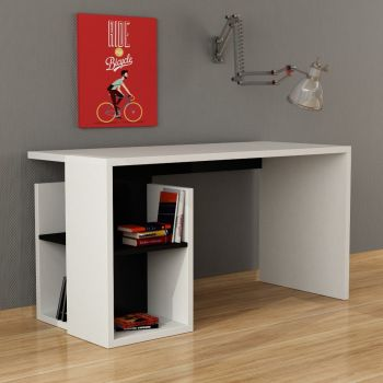 Snail scrivania home office con libreria in legno 140 x 60 cm