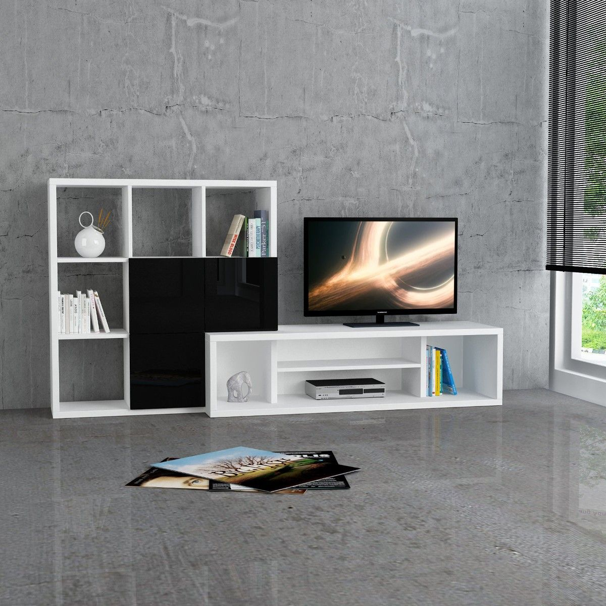 Starring mobile porta tv fisso design moderno in legno - Porta tv design moderno ...