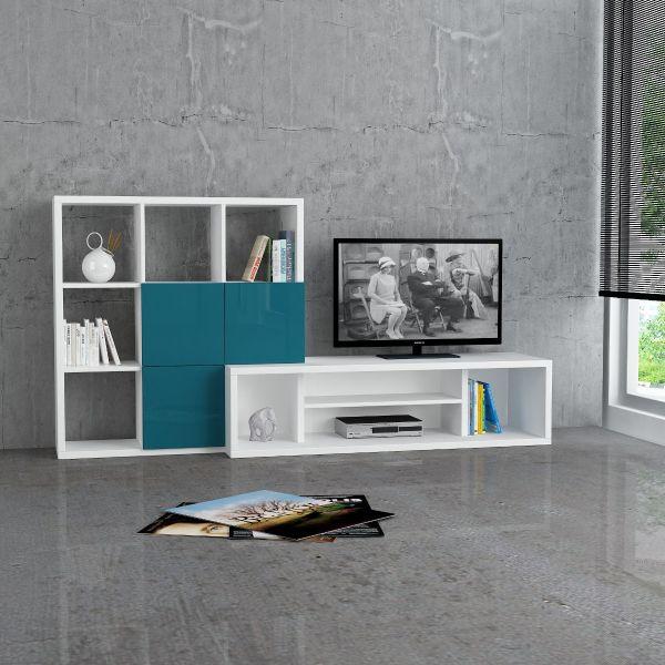 Starring mobile porta TV fisso design moderno in legno 215x110 cm