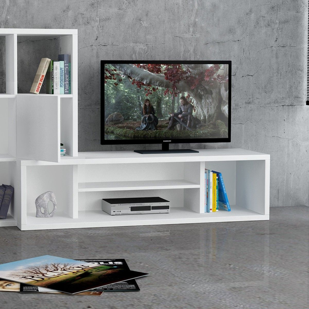 Starring mobile porta tv fisso design moderno in legno - Mobile tv moderno ...