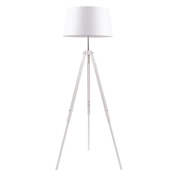 Momentum lampada da terra a tre piedi in legno e metallo
