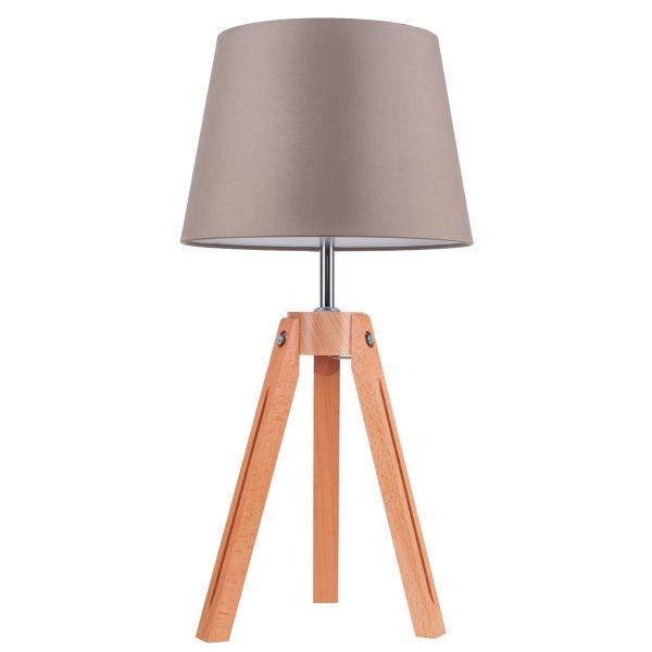 Momentum lampada da tavolo a tre piedi in legno e metallo