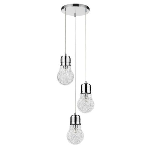 Marjatta Tris lampadario sospensione 3 luci a forma di lampadina