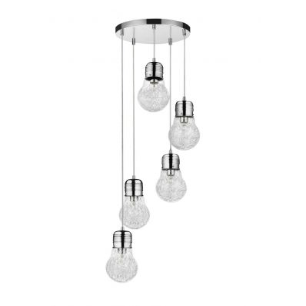 Marjatta 5 lampadario sospeso a 5 luci a forma di lampadina