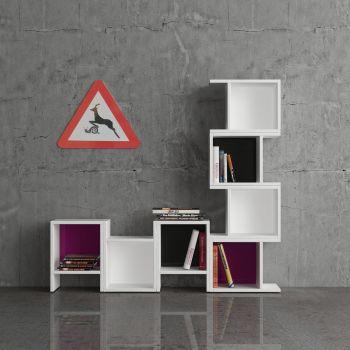 ModularMix libreria modulare componibile in melaminico
