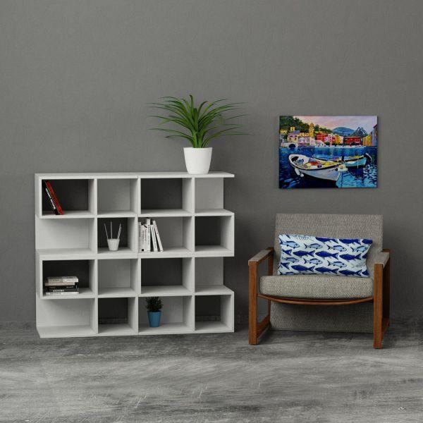 Premiere libreria a moduli componibili design moderno 130 x 108 cm