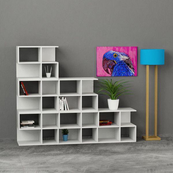 Premiere libreria design componibile da parete 195x162cm