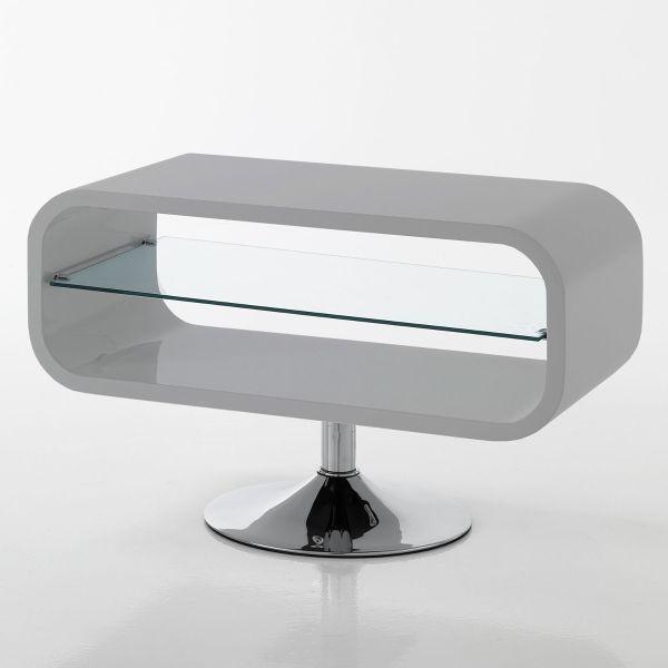 Mobile porta TV in legno MDF bianco lucido 80 cm Sibilla