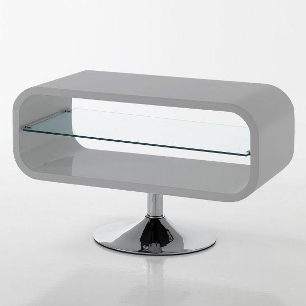 Mobile porta tv design moderno sibilla in legno mdf bianco lucido 80 cm ebay - Mobile porta tv moderno design ...
