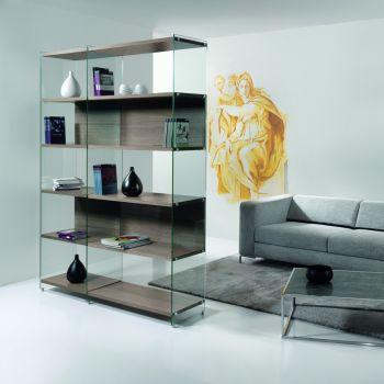 Byblos4 libreria divisoria autoportante per soggiorno 150x200cm