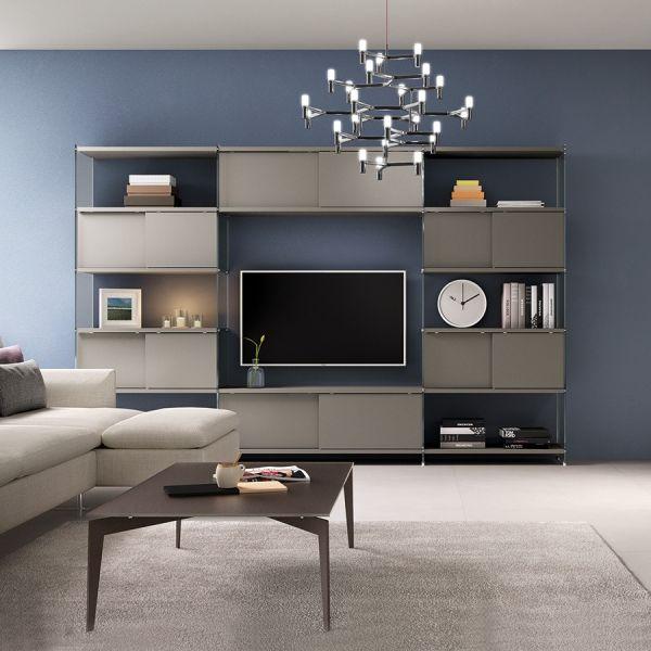 Libreria porta TV da soggiorno parete attrezzata Byblos7