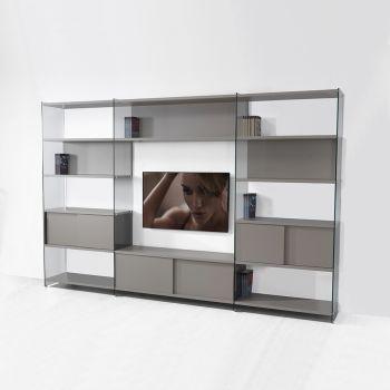 Byblos8 libreria parete attrezzata porta TV per soggiorno