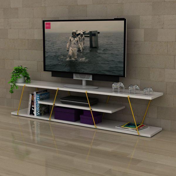 Mobile porta TV grandi dimensioni fisso 143 cm Unity