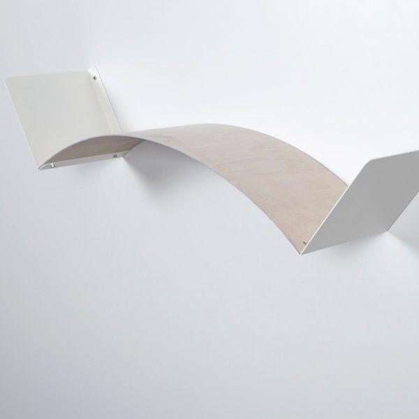 Mensola flessibile componibile in legno naturale lunghezza 75 cm Flexa Wood