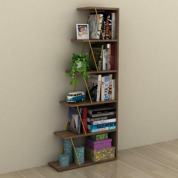 Libreria scaffale per soggiorno a forma di scala Gradient