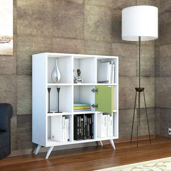 Olivia libreria autoportante da terra per soggiorno 90 x 100 cm