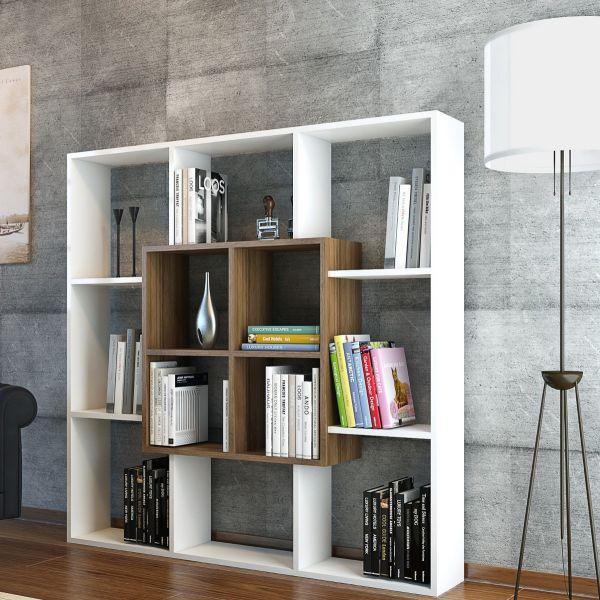 Laerke libreria a giorno design scaffale da parete 136 x 136 cm