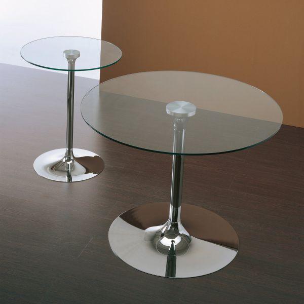 HUBBARD tavolo design da pranzo ROTONDO in cristallo e metallo da 60 a 120 cm  eBay