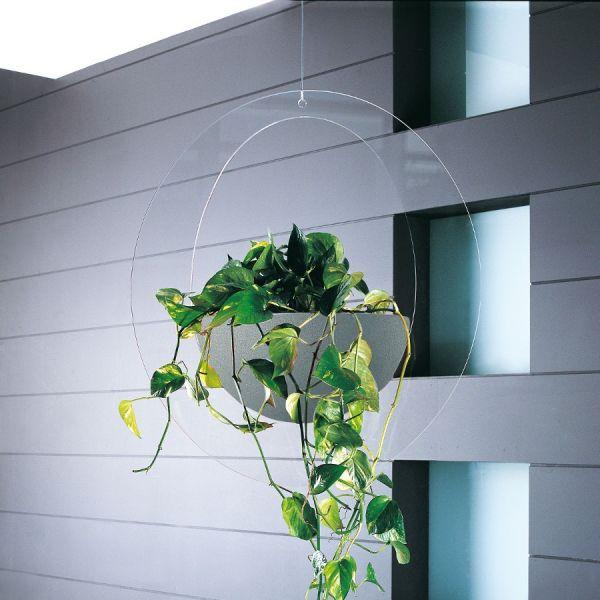 Fioriera da interno design moderno in plexiglass trasparente Erbavoglio