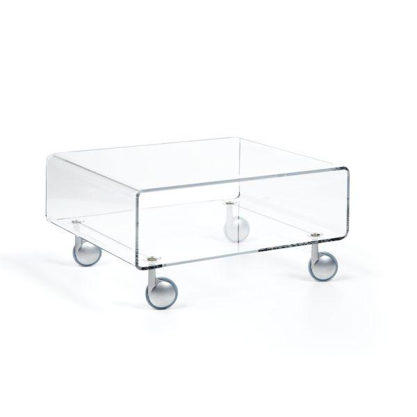 Tavolino da salotto con ruote in plexiglass 56 x 50 cm Andy 1