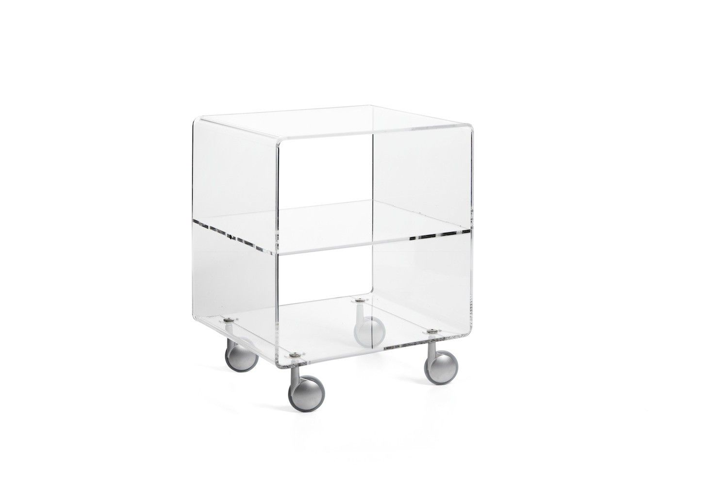 Porta Tv Plexiglass.Carrello Porta Tv In Plexiglass Trasparente Andy 3