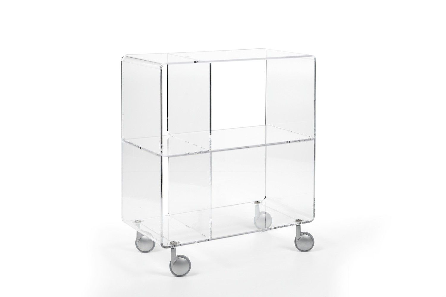Porta Tv Plexiglass.Carrello Porta Tv In Plexiglass Trasparente Andy 5