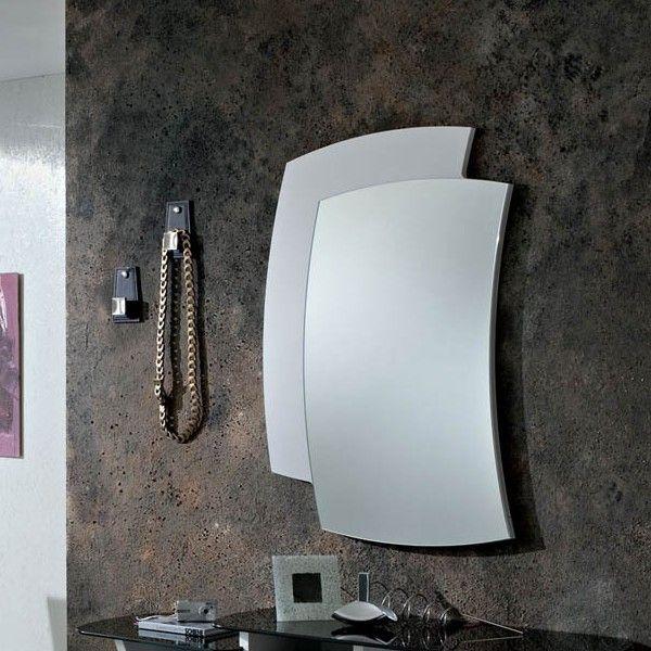 Yannick specchiera da parete con cornice in legno 60 x 85 cm