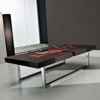 Kaleb tavolo basso da soggiorno in legno rovere moro