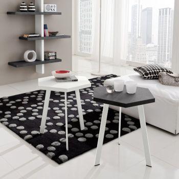 Kimi tavolino esagonale in legno da salotto alto o basso