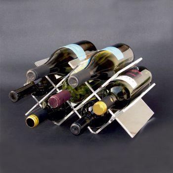Klar cantinetta portabottiglie vino per 7 bottiglie in plexiglass trasparente