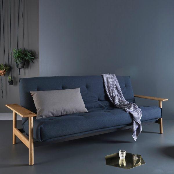 Divano letto Balder regolabile materasso a molle - 528 Mixed Dance Blue