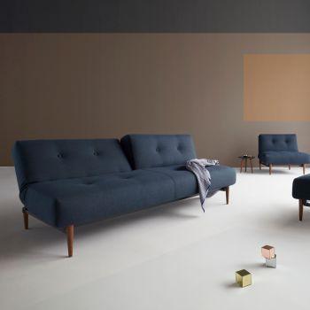 Buri divano letto uso quotidiano con materasso a molle 115 x 210 cm