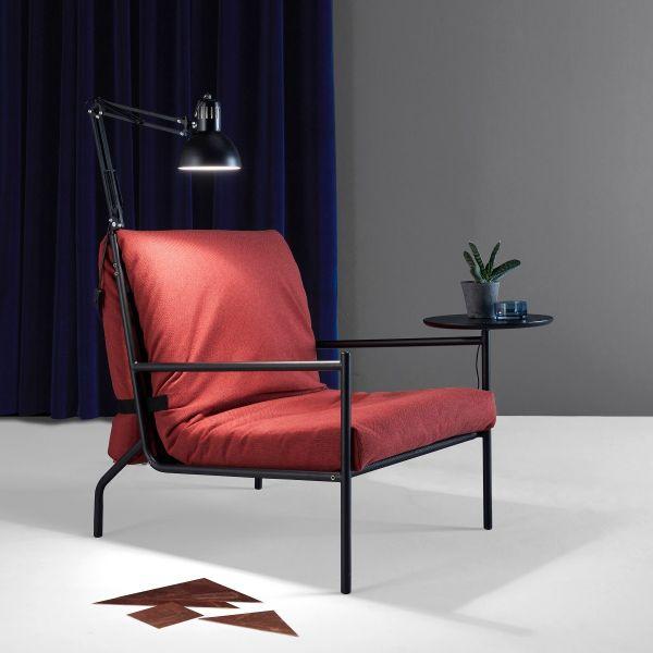 Noir poltrona letto singolo design scandinavo salvaspazio