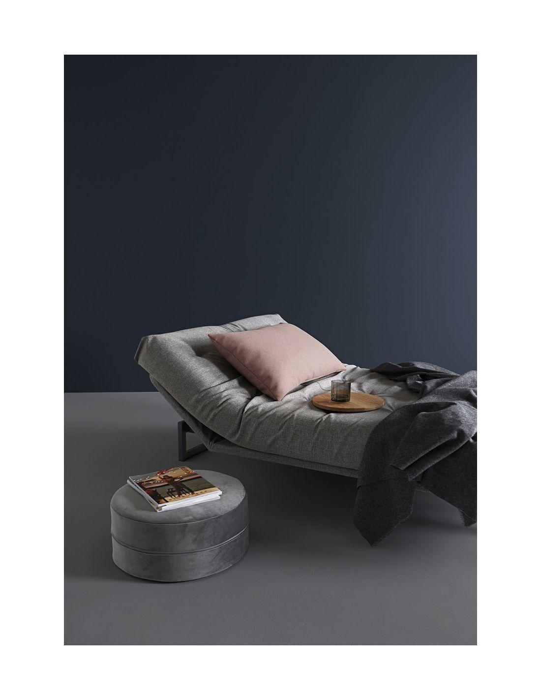 Divano letto matrimoniale design nordico 140x200 cm Fraction 140