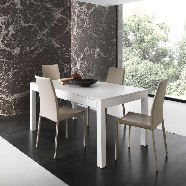 Tavolo soggiorno allungabile in legno 160 x 90 cm Sigvard