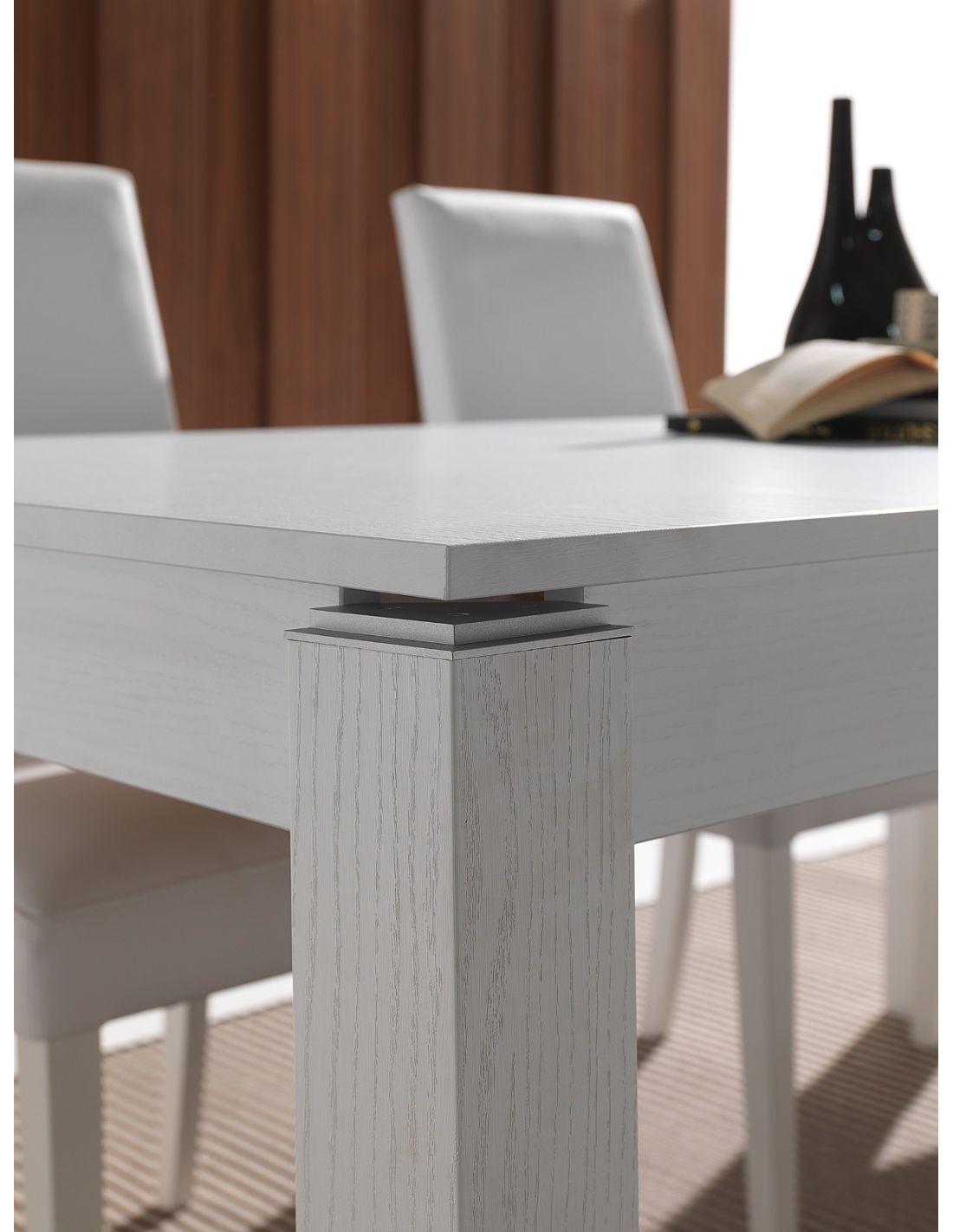 cucina allungabile Stellan in legno bianco poro aperto 160 x 90 cm