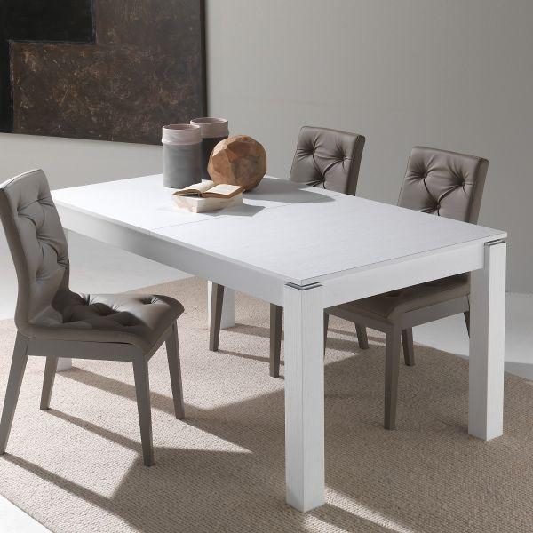 Tavolo cucina allungabile Stellan in legno bianco poro aperto 160 x 90 cm