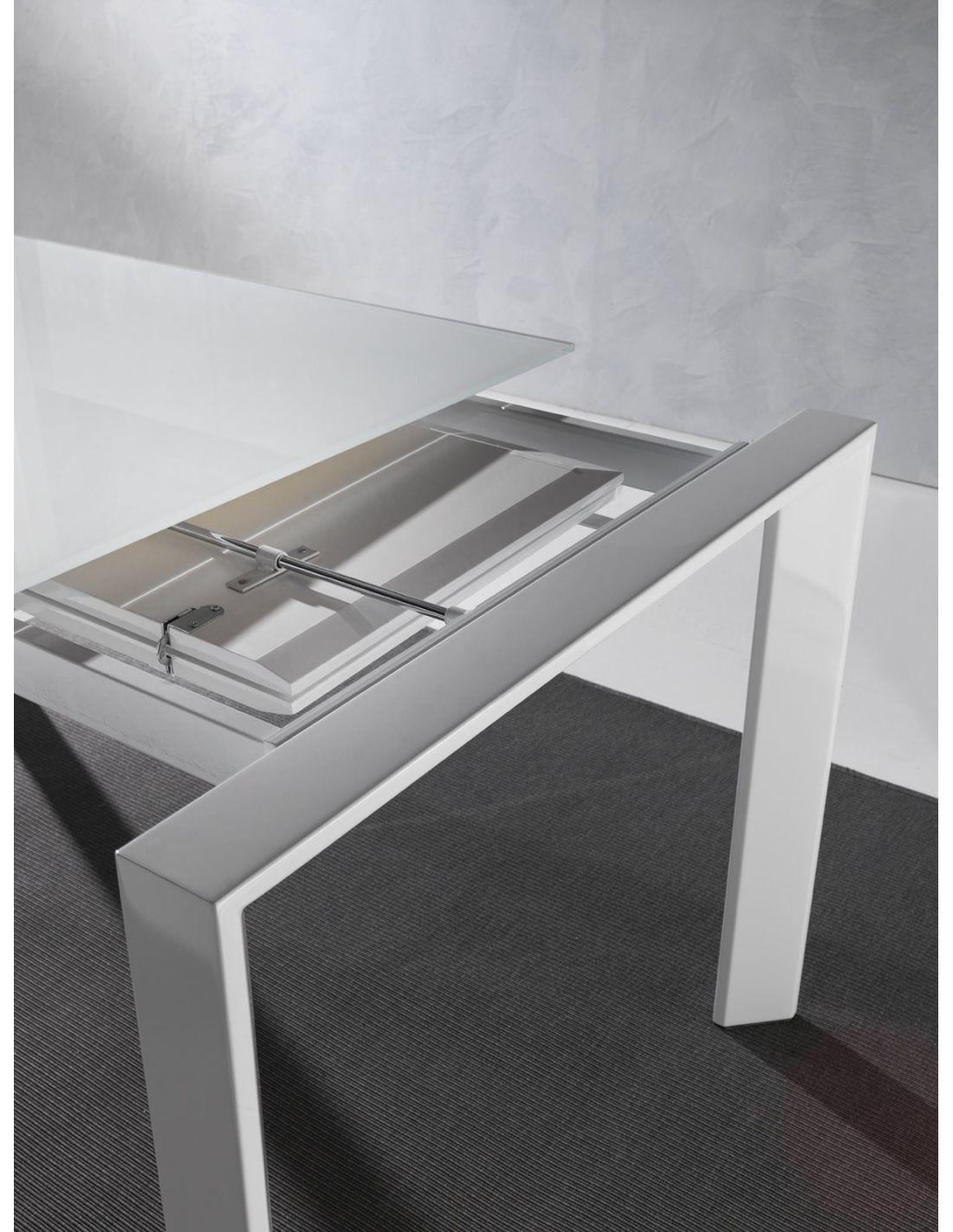 Tavolo in vetro allungabile harvey per cucina o soggiorno 120 x 80 cm - Tavolo di vetro per soggiorno ...