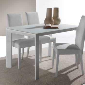 Tavolo in vetro allungabile Harvey per cucina o soggiorno 120 x 80 cm
