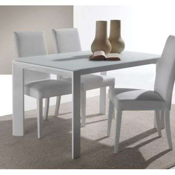 Tavolo in vetro allungabile per cucina o soggiorno 120 x 80 cm Harvey