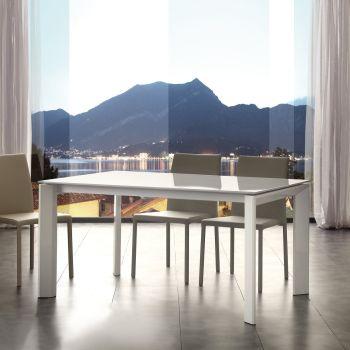 Tavolo allungabile Kalami in legno e metallo per cucina 140 x 90 cm
