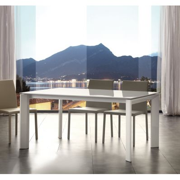 Tavolo allungabile in legno e metallo per cucina 140 x 90 cm Kalami