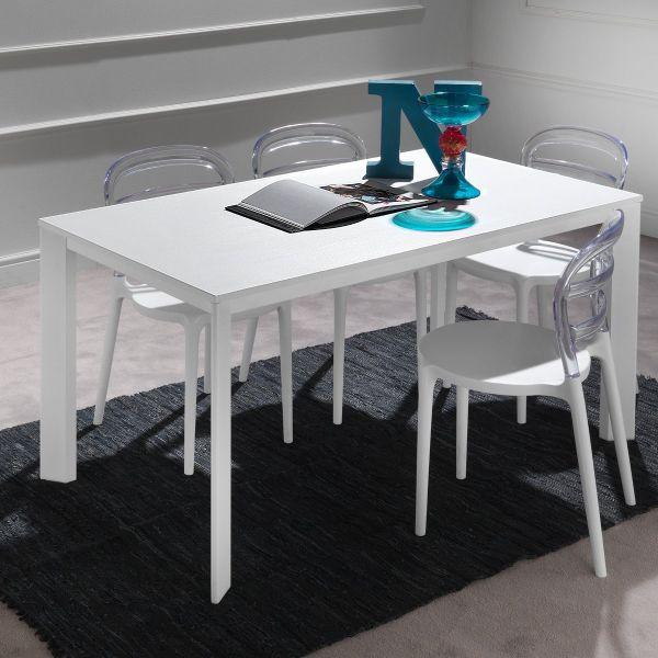 Tavoli Allungabili In Alluminio.Tavolo Allungabile In Alluminio Legno Design Moderno 130 X 80 Cm Mack