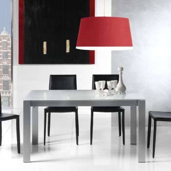 Tavolo allungabile Kallum in metallo legno e vetro 140 x 85 cm