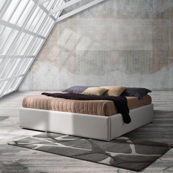 Garner letto contenitore matrimoniale in ecopelle 172 x 205 cm