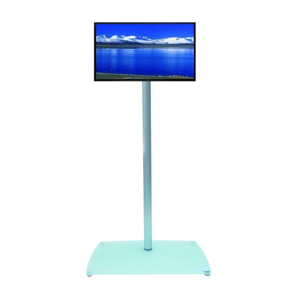 Colonnina porta TV totem in alluminio con passacavi T10