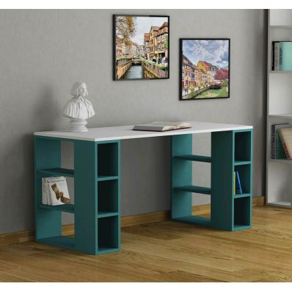 Drummy scrivania con libreria per ragazzi in legno